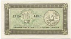 500 Lira 1945 (Segelboot mit Stern) Slowenien Istrien, Fiume und Slowenische Küstenregion