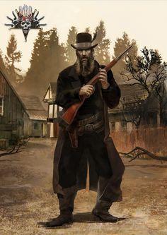 Hard West character art