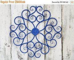 ON SALE Large Metal Scroll Wall Art Metal Wall by Theshabbyshak