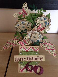 60th birthday card in a box