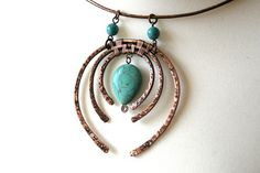 Workshops - Gemma Crow | I love this! I would put it on a silver wire choker! I'm such a lover of turquoise...
