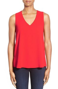 Free shipping and returns on Gibson V-Neck Sleeveless High/Low Blouse (Regular & Petite) at Nordstrom.com. A V-neckline and a sleeveless silhouette style a textured woven top in your choice of four versatile shades. A vented hem that dips to a longer, curved back lends flowymovement to the straight-cut style.