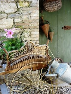 French garden cart