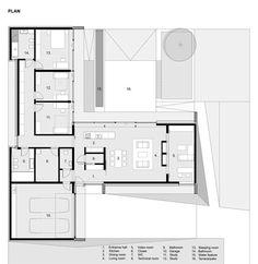 House without stairs by Przemek Kaczkowski and Ola Targonska dailytonic architecture plan