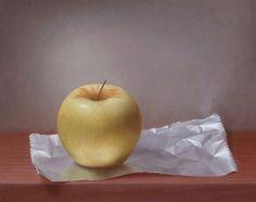 Peinture Pomme sur papier aluminium