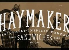 Haymaker - Austin 2310 Manor Rd (512) 243-6702 From the team behind Black Sheep Lodge, this East Side sandwich shop turns out what it calls 'regionally-inspired' comfort fare (e.g. Wisconsin wurst and Chicago-style beef sandwiches), plus burgers, poutine and 40 beers on tap; set in a hip converted auto parts shop, the spot also has large TVs for sports fans.