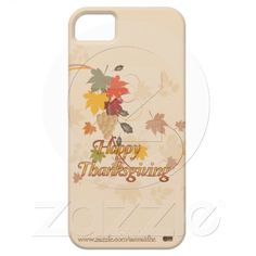 Happy Thanksgiving - Leaves, Grapes and Ribbons casemate cases