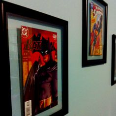 Frame comic books for a fun child's super hero themed room!