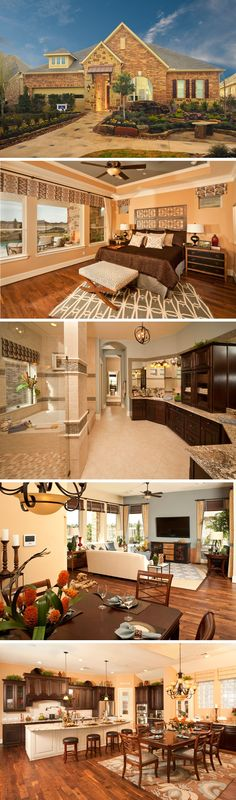 The Grimes by David Weekley Homes in Ashfield Gardens is a 3 bedroom, 3 bathroom home that features an elegant circular entryway, warm hardwood floors and a large open kitchen and family room. Custom home upgrades include an outdoor living space, a fireplace in the family room or French doors into the study.