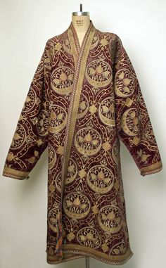 76945-costume-research-and-more: A Late 19th early 20th century Silk and Metal Thread Caftan from Central Asia Bukhara the Metropolitan Museum of Art