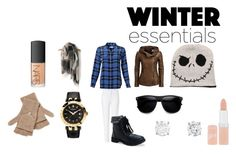 """""""winter essentials"""" by truthtea ❤ liked on Polyvore featuring Equipment, ESCADA, Aéropostale, Versace, Qi Cashmere, Rimmel and NARS Cosmetics"""
