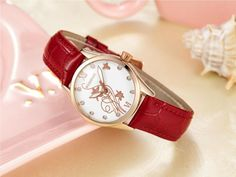 WISHDOIT 005 Fashion Women Quartz Watch Roman Numerals Flower Iron Tower Wrist Watch