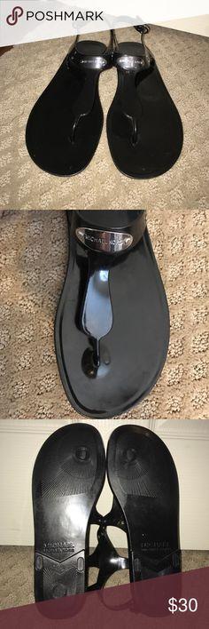 Michel Kors MK Plate Jelly Black Michal Kors Jelly Sandel MICHAEL Michael Kors Shoes Sandals