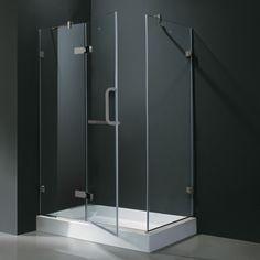Vigo Monteray 32 x 40-in. Frameless Shower Enclosure with .375-in. You'll Love | Wayfair