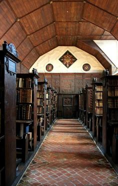 The Upper Library, Merton College, Oxford, England