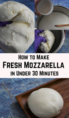 How to Make Fresh Mozzarella in Under 30 Minutes Goat Milk Recipes, Cheese Recipes, Cooking Recipes, Cheese Food, Cheese Plates, Cooking Tips, How To Make Cheese, Making Cheese, Food To Make