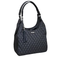 QuIlted Microfiber - Slouch Bag, Black