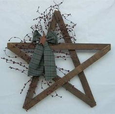 "Primitive Country Crafts | Our country tobacco lathe star measures 24"" x 24"" and includes a pip ..."