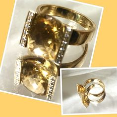 Dieser Zitrinring bringt Sonne in Ihr Leben! Das duftige Design läßt den Stein extrem strahlen und beiderseits funkeln jeweils 6 Brillanten. Gelbgold 585, Größe kann individuell angepasst werden! #traumsteinvienna #handmadeinvienna #finestjewelry #bracekets #earrings #Trends #ladiesloveit #jewelrydesign #gemstones #pearls #silverjewelry #rosegold #whitegold #yellowgold #uniques #zitrinring #modernstyle Wedding Rings, Trends, Engagement Rings, Jewelry, Design, Beams, Gold Jewelry, Stone, Engagement Ring