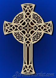 scroll saw cross patterns | Celtic crosses