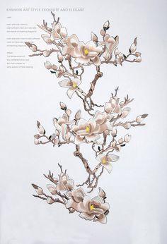 Ferro-su Appliques ricamate ricamate di fiori per di POPOLace