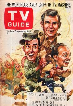 1968 TV Guide July 13-Andy Griffith; Jonathan Frid - Dark Shadows; Hawaii Five-O #TVGuide