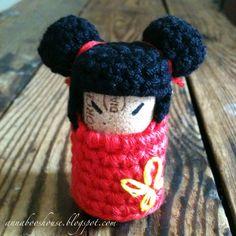 Annaboo's house: Japanese Kokeshi Crochet