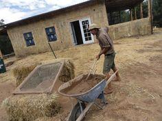Adobe Plaster New Mexico Straw Bale Construction
