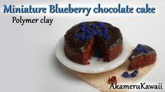 Miniature blueberry chocolate cake - Polymer clay tutorial