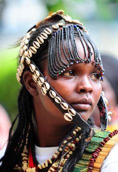Africa |  Woman photographed in northern Kenya | ©Xinhua/Zhao Yingquan