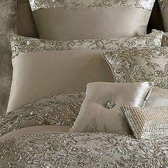 Kylie Minogue at home Silver 'Alexa' 200 thread count pillow case | Debenhams