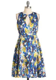 Easily Abstracted Dress | Mod Retro Vintage Dresses | ModCloth.com