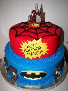 Cake idea for Mason's superhero party