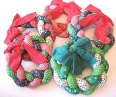 these would be fun to try with african fabrics!1  fabric wreaths