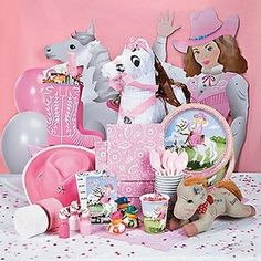 Western Cowgirl Themed Birthday Party Supplies & Decoration Ideas