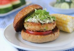 Shrimp Burgers by The Galley Gourmet    http://www.thegalleygourmet.net/2012/07/shrimp-burgers.html#