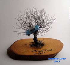 whomping willow, whomp willow, wire trees, tree sculptur