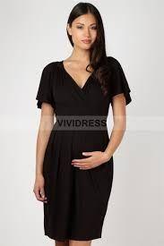 loose black dress short sleeves v-neck - Google-haku