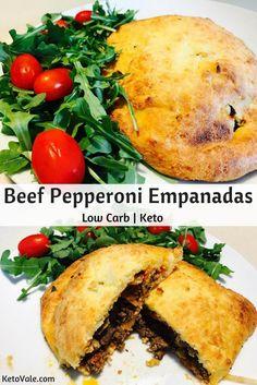 Keto Beef Pepperoni Empanadas