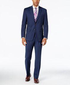 Lauren Ralph Lauren Big and Tall Light Navy Solid Classic-Fit Suit