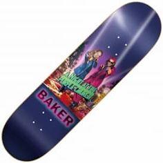 """Baker Skateboards Hawk Figgy Purple Church Skateboard Deck 8.25"""""""