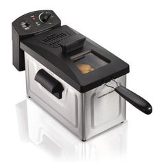 Deep Fryer 12 Cup Oil Capacity Cooking Digital Timer Kitchen Appliances Silver #HamiltonBeach