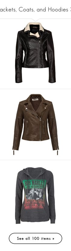 """""""Jackets, Coats, and Hoodies 3"""" by maygenlynn ❤ liked on Polyvore featuring outerwear, jackets, leather jackets, women's outerwear, real leather jackets, 100 leather jacket, genuine leather jackets, leather jacket, leather and short khaki jacket"""