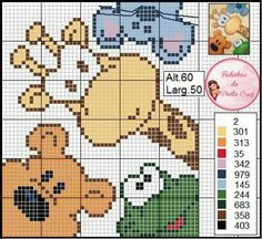 Schermi - My list of the most beautiful animals Pixel Crochet, C2c Crochet, Crochet Diagram, Crochet Chart, Kawaii Cross Stitch, Cross Stitch Baby, Cross Stitch Animals, Cross Stitch Cards, Cross Stitching