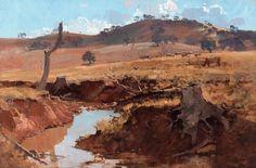 Arthur Streeton The Creek Art Print by pdpress Australian Painting, Australian Artists, Landscape Art, Landscape Paintings, Landscapes, Oil Paintings, Desert Landscape, Impressionist Paintings, Landscape Photography