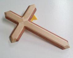 Wood wall cross made of pine and red oak. handmade wooden cross, wood cross, medium