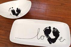 Offrez les empreintes de bébé en cadeau! Une idée originale!