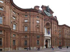 Palazzo Carignano -Turin. Seventeenth-century facade on Piazza Carignano.