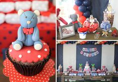 This charming TEDDY BEAR BIRTHDAY PARTY was submitted by Júlia Herzog of Festa com Gosto! Such a cute theme for a first birthday party! Boys 1st Birthday Party Ideas, Girl First Birthday, First Birthday Parties, Birthday Decorations, Teddy Bear Birthday, Bear Party, Bear Theme, Theme Ideas, Party Planning