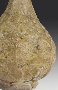 Grande aiguière lustrée à tête de coq, Iran, Kashan, vers 1200 Céramique